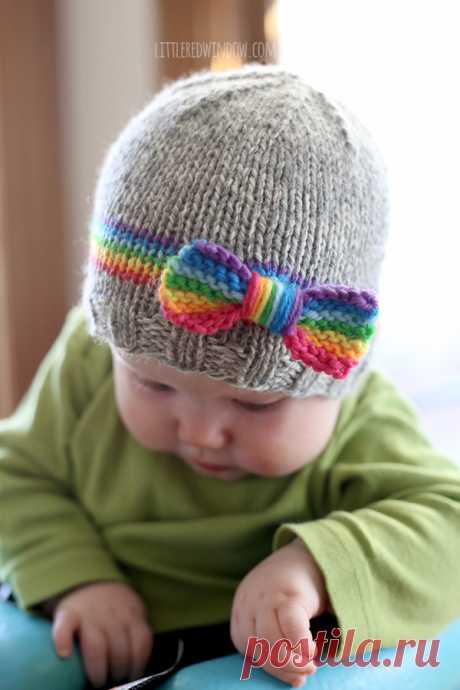 RainBOW Baby Hat Knitting Pattern - Little Red Window
