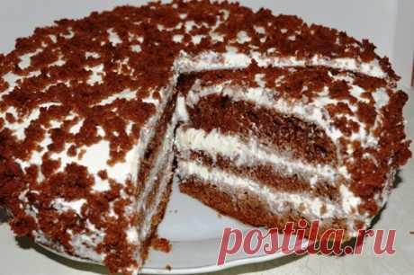 Торт «Черный принц» на кефире (сметане) в мультиварке (духовке) | ГОТОВИМ ВКУСНО И ПО-ДОМАШНЕМУ