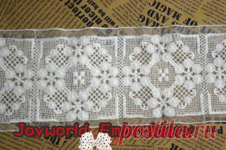 Хлопок вышивка кружево велюр обметывание вышивка кружево ткань молочная белый 12 см купить на AliExpress