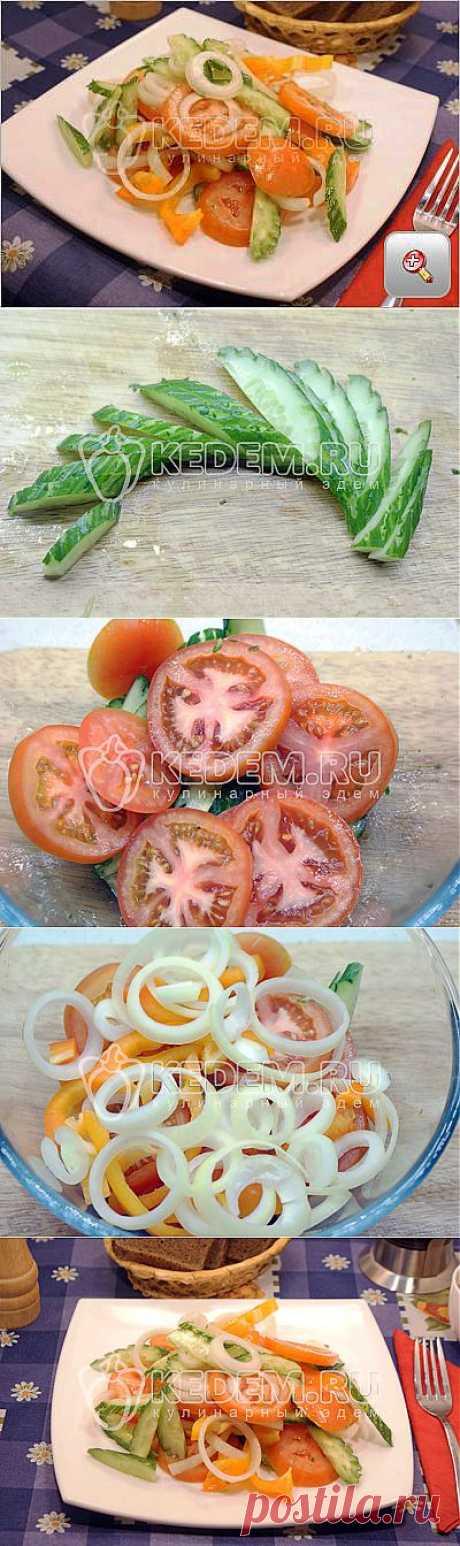 Овощной салат с маслом - Салаты. Овощные салаты