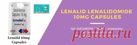 Lenalid 10mg Lenalidomide Capsules comes under the trade name #Revlimid, which is used to treat multiple myeloma. Buy original #Lenalidomide at wholesale price only from our online portal MedsDelta.com a generic medicines supplier.#MedsDelta supplies Lenalidomide Capsules such as #Lenalid10mg, across the world countries over 150 countries.  For any query contact us anytime call us at -> +91-9971646666, QQ: 3451266709, Skype: medsdelta, WeChat: medsdelta, or mail: medsdelta@gmail.com