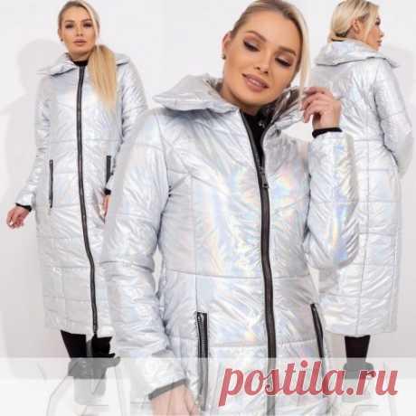 ✦Блестящее перламутровое пальто купить недорого