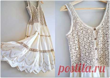 Летние рукодельные идеи: комбинируем вязание и ткань | Paradosik_Handmade | Яндекс Дзен