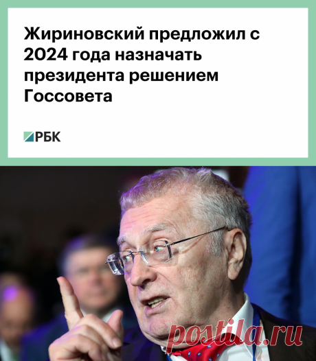 Жириновский предложил с 2024 года назначать президента решением Госсовета :: Политика :: РБК