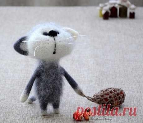 Добрый мир валяных игрушек Елены Коверт