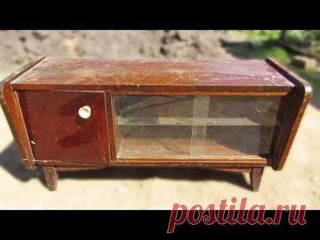 Переделка советской тумбы. Реставрация старой мебели | Restoration of Soviet furniture