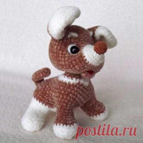 PDF Малыши-Щенки крючком. FREE crochet pattern; Аmigurumi animal patterns. Амигуруми схемы и описания на русском. Вязаные игрушки и поделки своими руками #amimore - Собака, пёс, собачка, маленький щенок, пёсик.