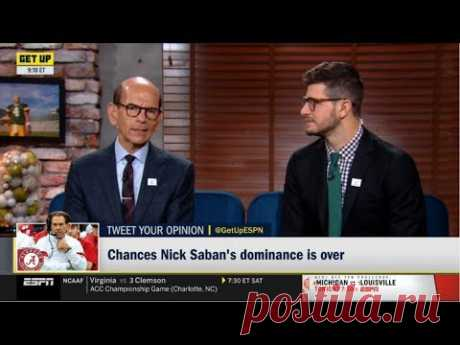 "ESPN GET UP | Paul Finebaum & Marcus Spears ""heated"" Chances Nick Saban's dominance is over"