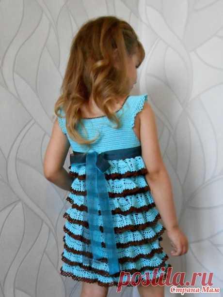 """Платье для девочки """"Море облаков"""" - Вязание - Страна Мам"""