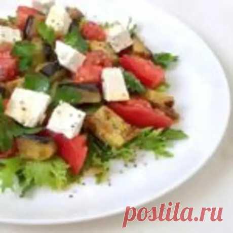 """Салат с баклажаном и сыром """"Фета"""". - Мир кулинарии - медиаплатформа МирТесен"""