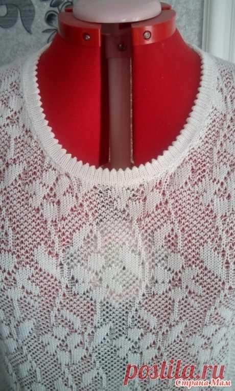 . Летний пуловер - Машинное вязание - Страна Мам