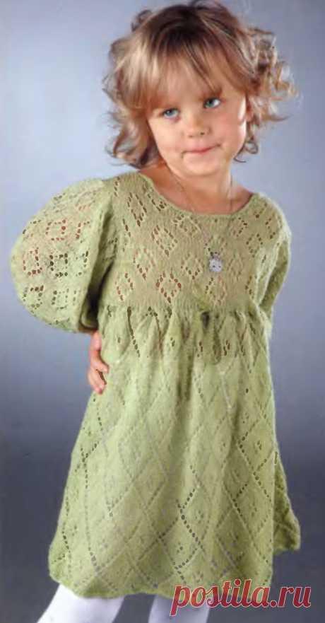 Ажурное платье для девочки 3 года - Для детей до 3 лет - Каталог файлов - Вязание для детей