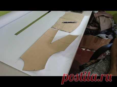 Como hacer delantero de vestido cruzado. Как правильно построить полочку платья с запахом.