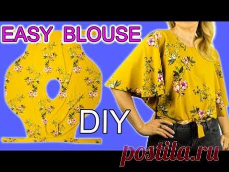 🌟⚡️ Красивая блузка за 10 минут без выкройки легко. 🔥👍 Отличный вариант на лето. Курсы шитья.