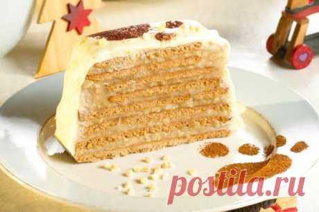 Торт без выпечки из печенья «Мишка на севере». Рецепт с фото