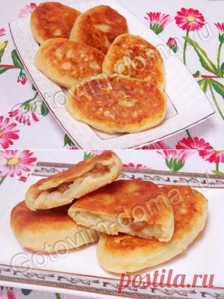 Рецепт: Пирожки с яблоками на творожном тесте