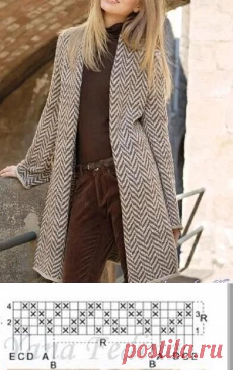Встречаем весну в обновках. Пальто спицами со схемами и описанием | Вязать легко/knitting | Яндекс Дзен