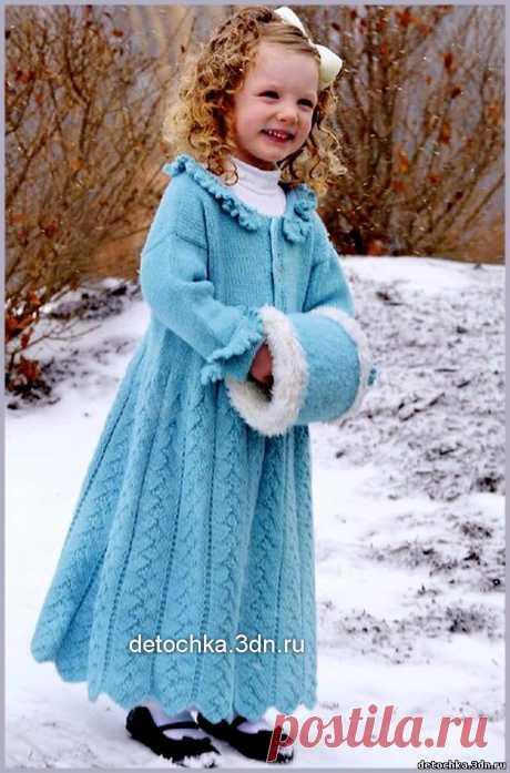 """Вязаное пальто """" Снежная королева"""" - Вязание пальто и кардиганов для девочек - Вязание девочкам - Вязание для малышей - Вязание для детей. Вязание спицами, крючком для малышей"""