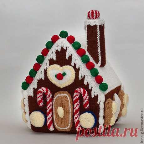 Вязанный пряничный домик