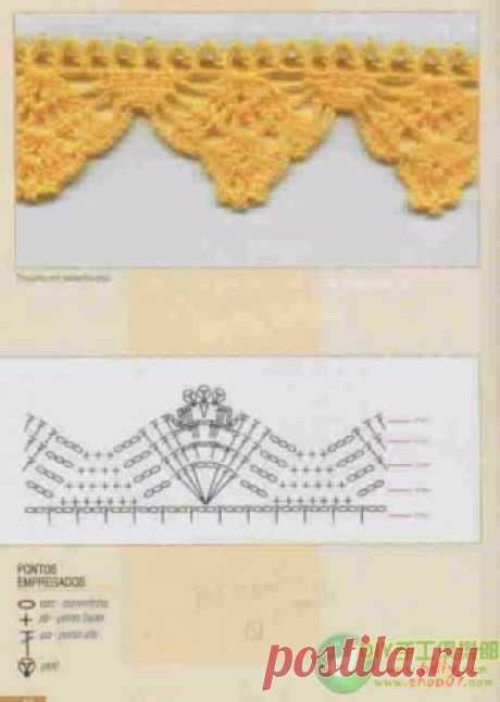 Beautiful border of the Scheme of knitting