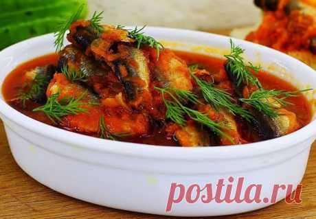 Килька в томате с овощами - лучший сайт кулинарии