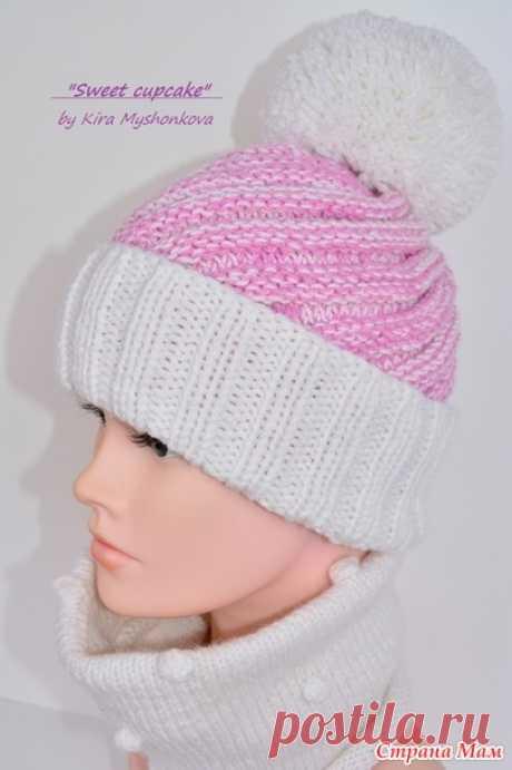 . Зимняя шапочка для девочки спицами. - Вязание - Страна Мам