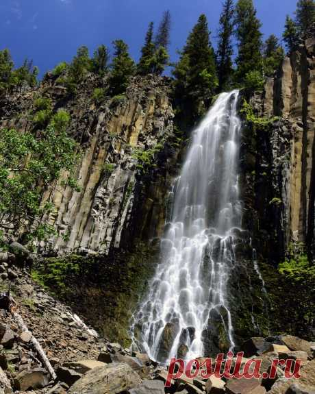 """richherrmann: """"Palisades Falls in the Gallatin National Forest. """""""