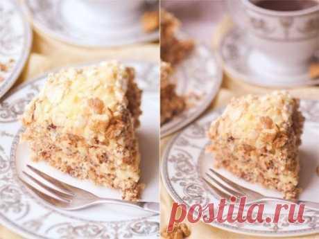 Как приготовить ореховый торт-безе с заварным кремом - рецепт, ингредиенты и фотографии