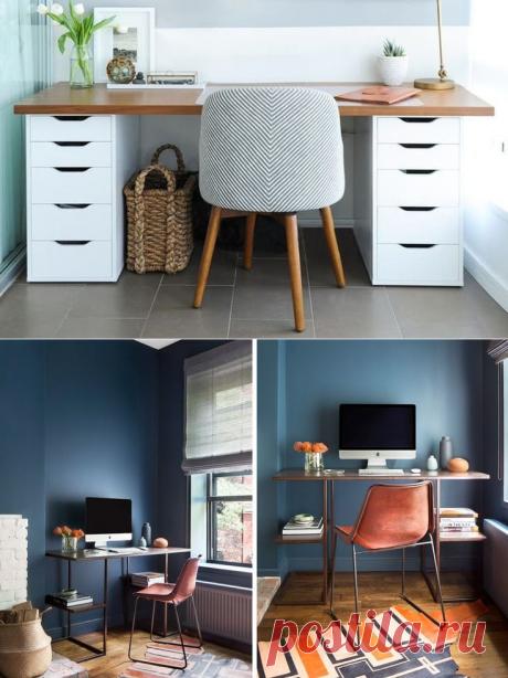 Отличные идеи рабочих столов для небольших помещений - Квартира, дом, дача - медиаплатформа МирТесен