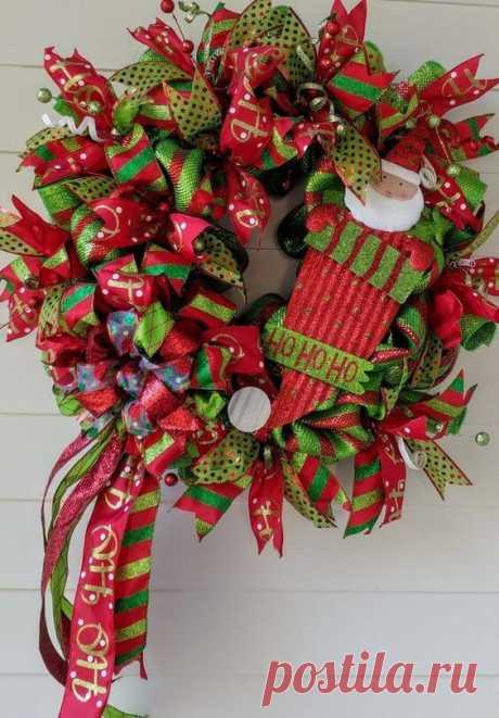 Рождественский венок. 30 фото-идей. ~ ALL-DEKOR