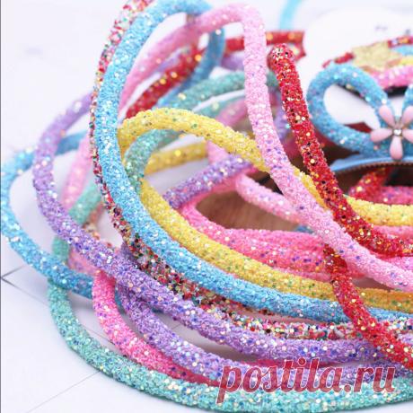 Декоративный шнур 6 мм * 50 см, 14 цветов