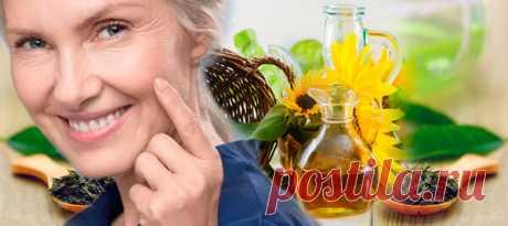 Подсолнечное масло с чаем, чтобы морщины расправлялись и новые не появлялись
