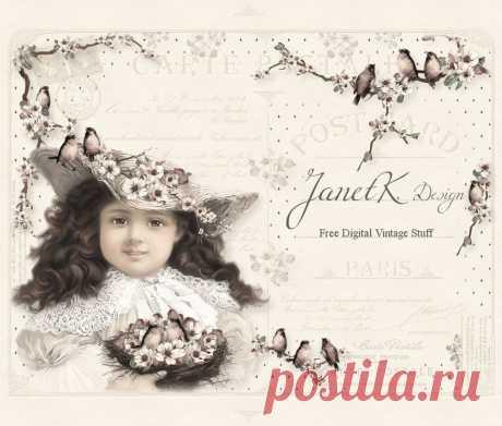 JanetK.Design бесплатный цифровой старинные вещи