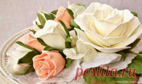 Мастер-класс по созданию красивой розы из фоамирана