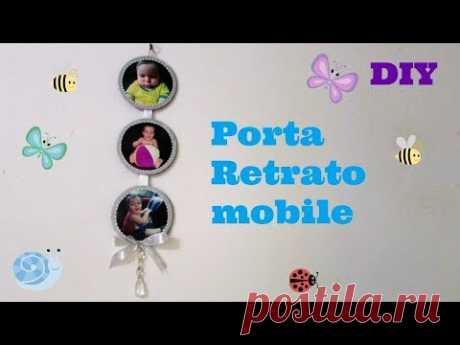 Porta retrato mobile feito com cds | DIY - YouTube