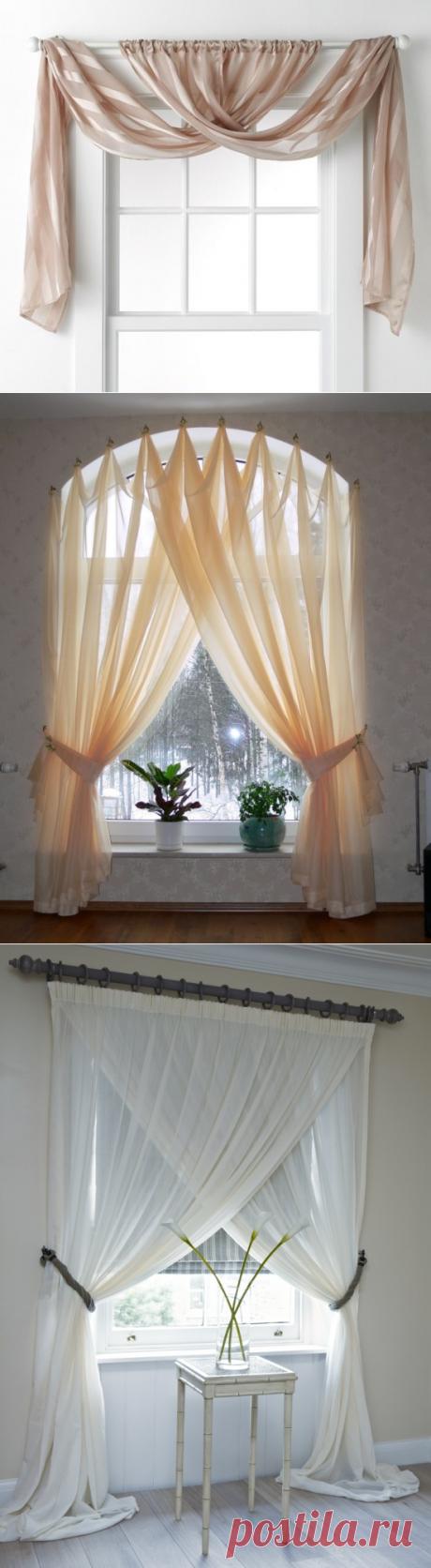 35 ideas para la formalización de la ventana por las cortinas.