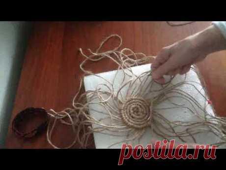 (2) Плетение салфеточки по кругу. Шаг 6 - YouTube