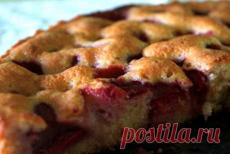 Клубничный пирог с ванилью рецепт – русская кухня: выпечка и десерты