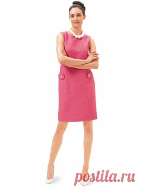 Платье-футляр - выкройка № 6671 из журнала 13/2016 Каталог Burda – выкройки платьев на Burdastyle.ru