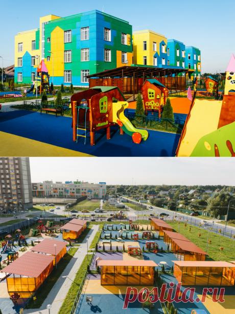 2020 октябрь. В поселке Мисайлово Московской области открылся новый детский сад на 360 мест общей площадью почти 5000 м²