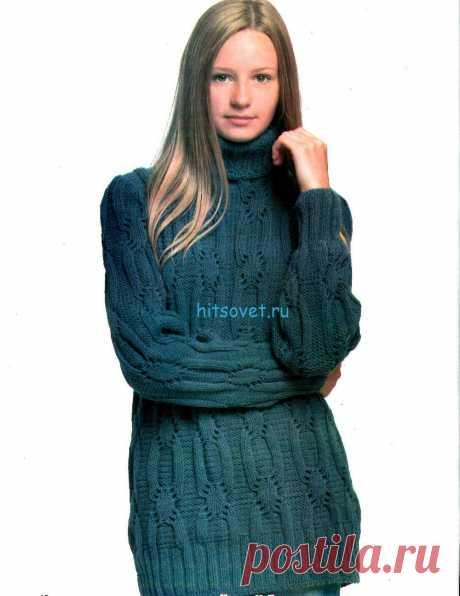 Вязаный свитер спицами | Хитсовет