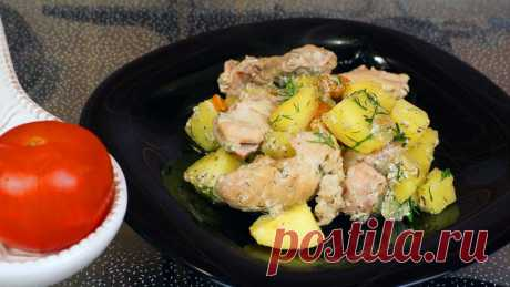 The baked chicken fillet with vegetables in pots - Simple recipes of Овкусе.ру