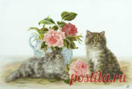 Кошки, коты, котята...Картинки для декупажа