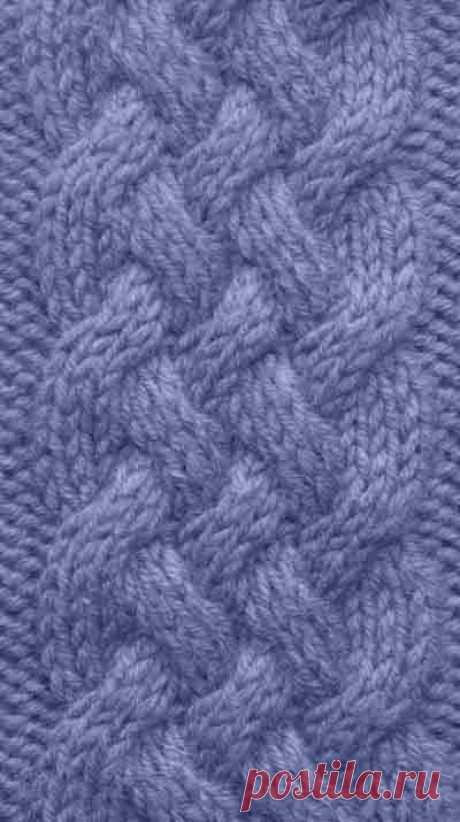 плетенка из 5 полос | каталог вязаных спицами узоров