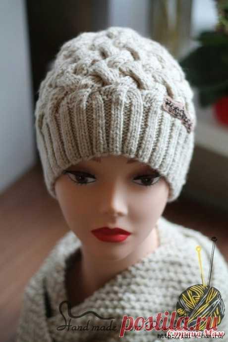 Шьем красивую теплую шапку