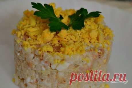 Салат с сайрой консервированной - пошаговый рецепт с фото на Повар.ру