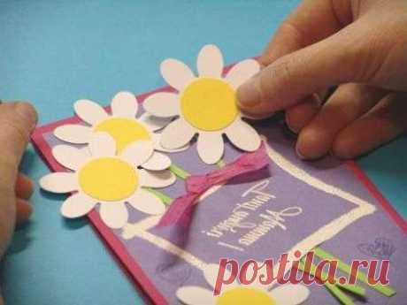 Подарок маме открытка своими руками