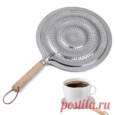 Металлическая деревянная ручка, бытовая поставка для газа/электрической/индукционной плиты, рассеиватель тепла, кухонная утварь с кольцом, 21 см, сковорода|Коврики и подложки| | АлиЭкспресс