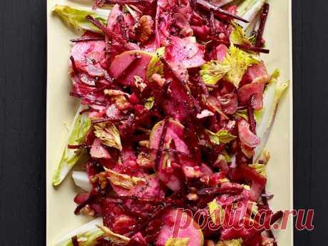 Салат из сырой свеклы с яблоком рецепт | Гранд кулинар