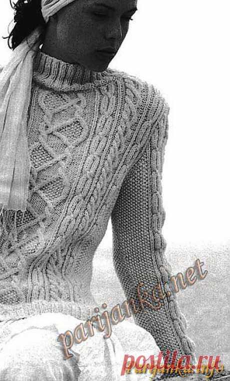 Пуловер (ж) 24*361 Phildar №2810